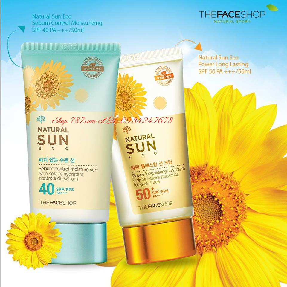 Kem Chống Nắng The Face Shop Natural Sun Eco SUPER PERFECT Sun Cream 50 SPF/FPS PA+++